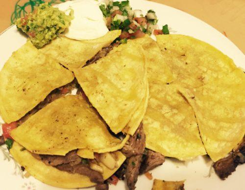 Beef Fajita Quesadillas