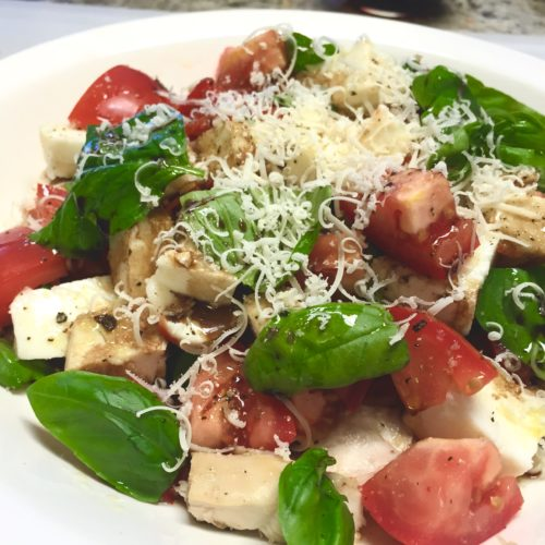 Tossed Chicken Caprese Salad