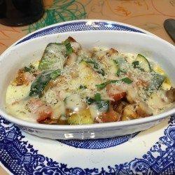 Leftover Rotisserie Chicken Zucchini Parmesan