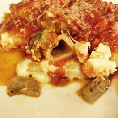 Baked Rigatoni with Chicken and Eggplant