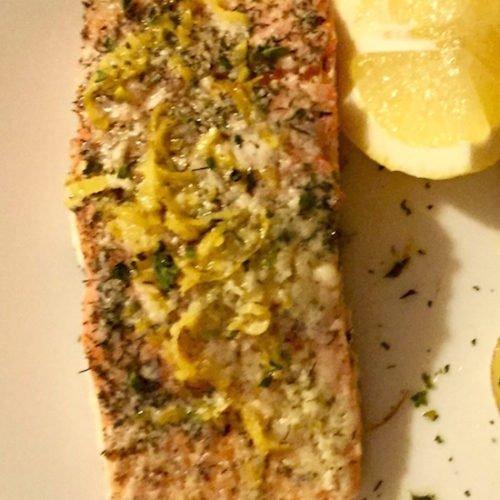 Lemon Zested Baked Salmon