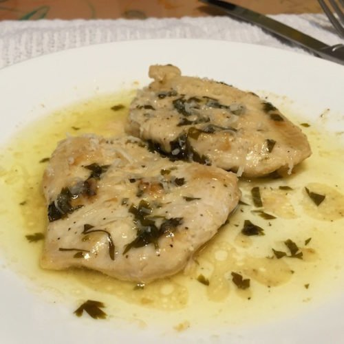 Chicken fillets with Lemon and Parsley