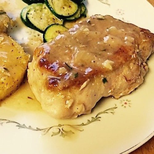 Pork Chops with White Wine Sauce - Poppop Cooks