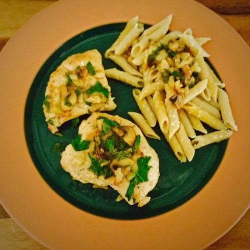 Lemon Chicken with Mushrooms and Parsley