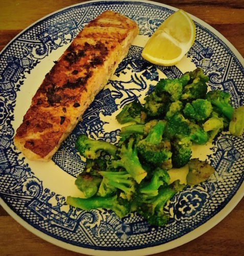 Lemon Zested Grilled Salmon