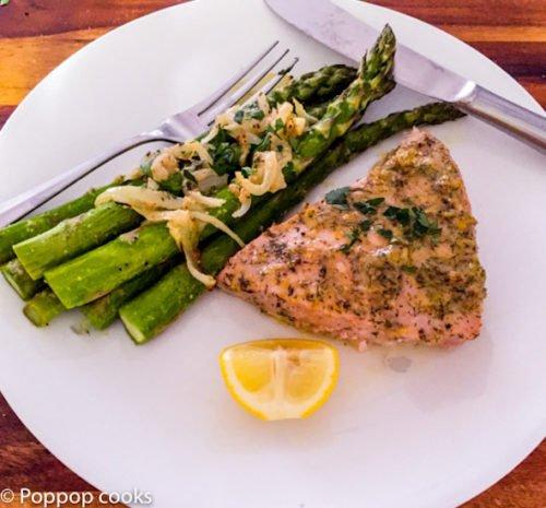 Oven Baked Tuna Steak Dinner Twenty-five Minutes