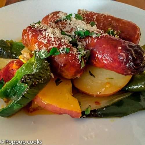 Oven Baked Sausage and Peppers