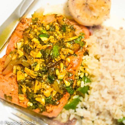 Quick Easy Lemon Parsley Salmon