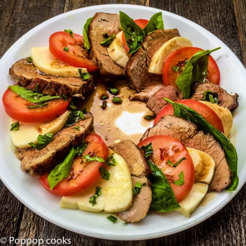 Pork Tenderloin Caprese Salad – 30 Minutes or Less