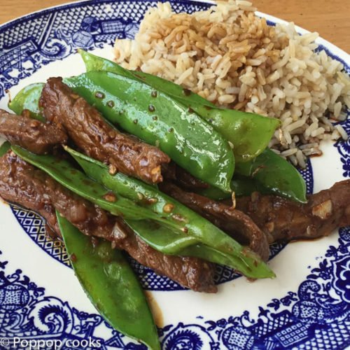 Stir Fried Beef and Snow Peas