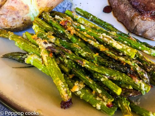 Baked Parmesan Crusted Asparagus
