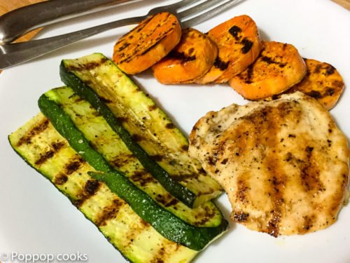 Quick Easy Grilled Chicken Dinner – One Pan – Easy Cleanup – Tasty – Gluten Free