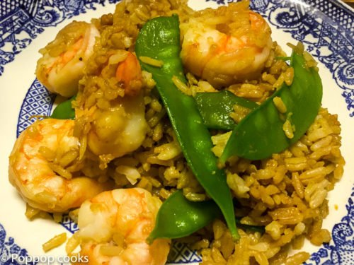 Shrimp Fried Rice with Snow Peas – One Pan – Quick and Easy – Gluten Free