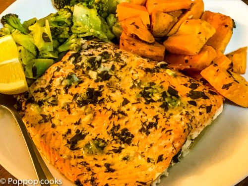 One Pan Salmon Dinner – Quick – Easy – Twenty Five Minutes