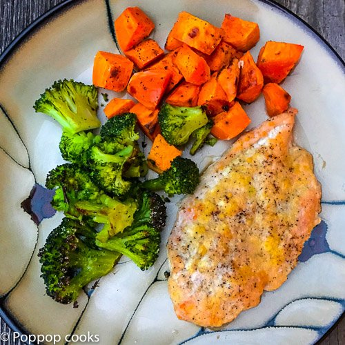 Parmesan Crusted Chicken Dinner – One Pan – Quick and Easy – 30 Minutes – Gluten Free