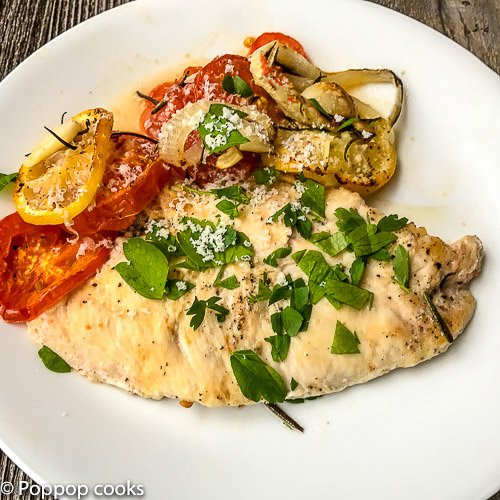 Baked Chicken Breasts with Vegetables