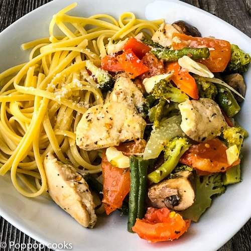 Chicken Pasta Primavera – Quick and Easy – 25 Minutes