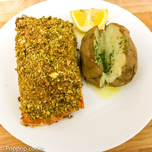 Pistachio Crusted Salmon Filets – 20 Minutes – 3 Ingredients