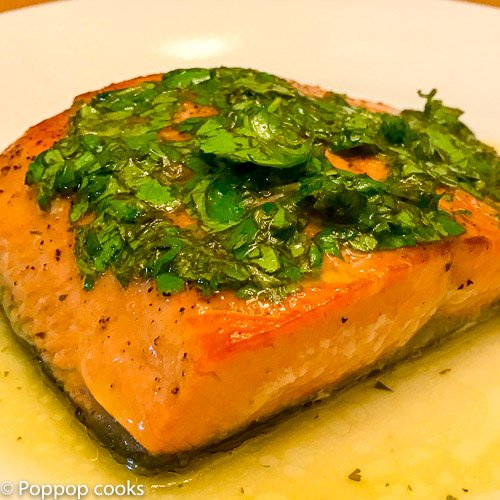 Salmon Filets with Lime Juice and Cilantro – 20 minutes – Quick and Easy – Gluten Free