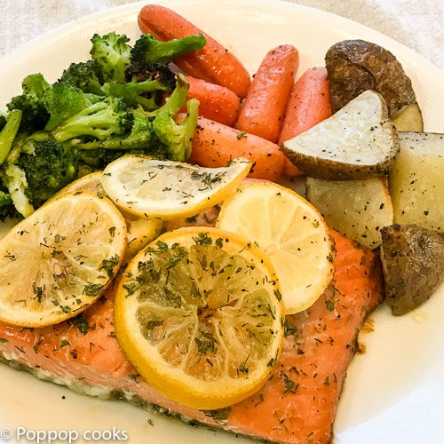 Baked Salmon Honey Lemon Weeknight Dinner   – One Pan – 20 Minutes – Quick and Easy