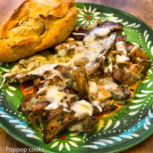 Philly Cheesesteak From Leftovers – 15 Minutes – Quick and Easy