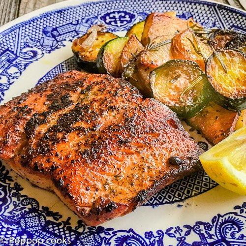 Easy Blackened Salmon Dinner