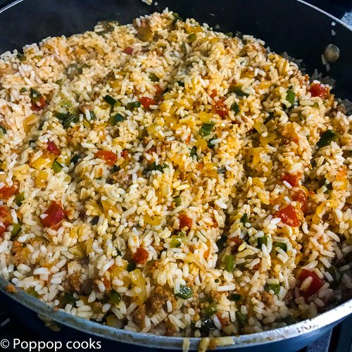 Spanish Rice-9-poppopcooks.com-rice-one pot-one pan-mexican food