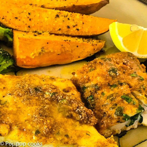 Baked Cod Filets Dinner – One Pan – Gluten Free – Paleo