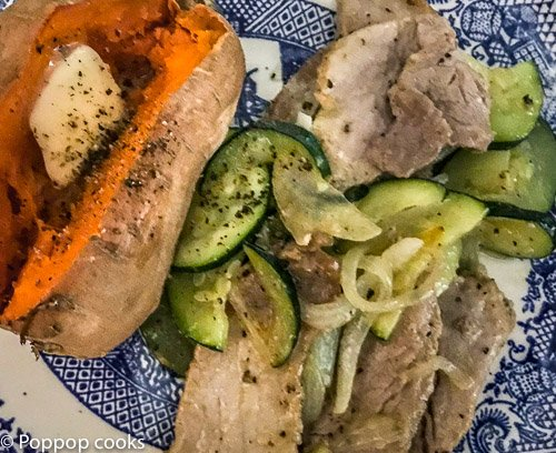 20 Min. Pork Tenderloin and Zucchini – Gluten Free – Paleo